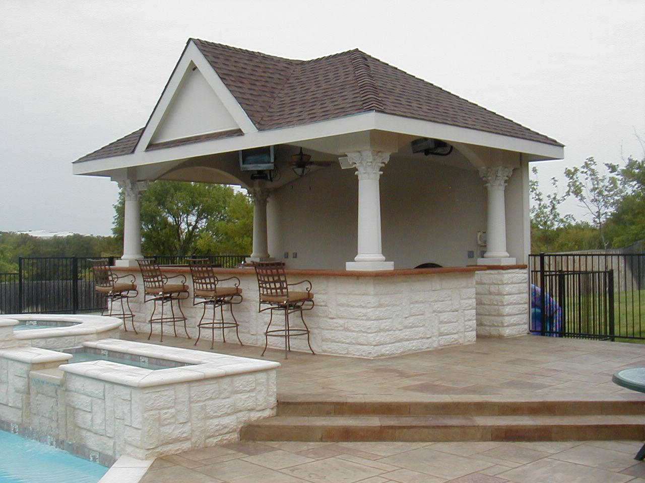 Sunccabana for Outdoor pool house