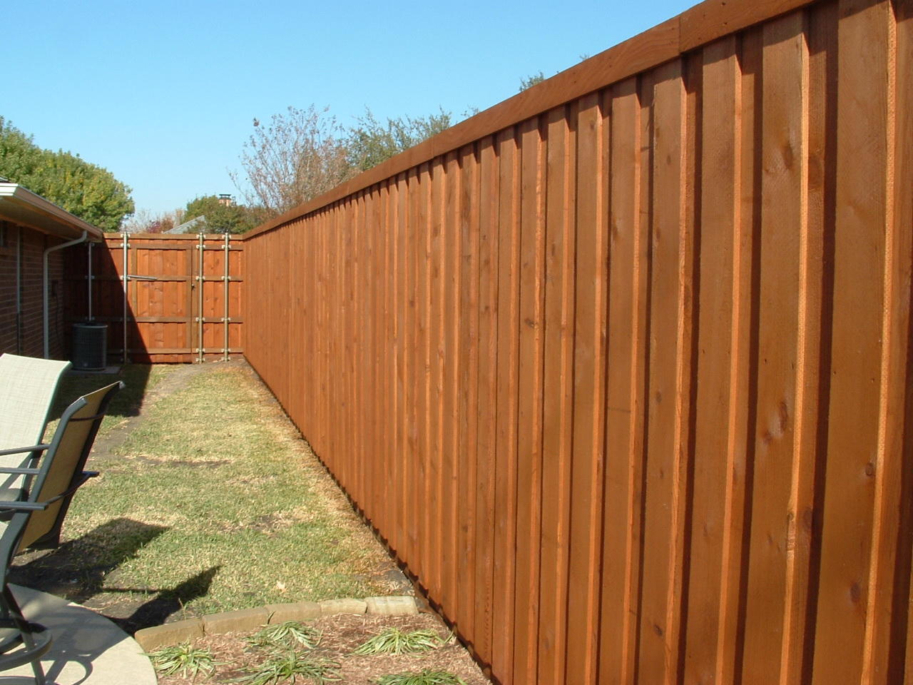 Sun f fence - How to paint a wood fence ...