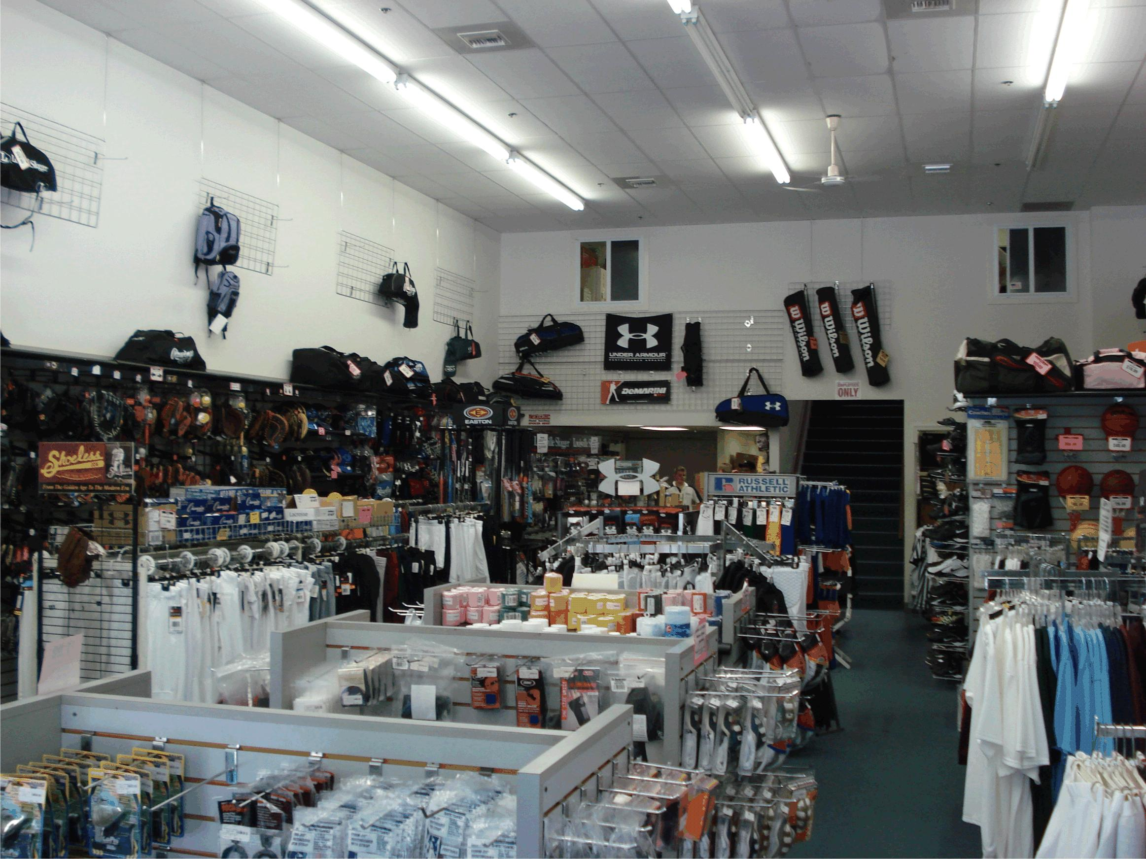 sporting goods store This store has a good selection of boston sports paraphernalia however, it is a bit overpriced compared to other sporting goods stores around i have been able to find some of the i have been able to find some of the.