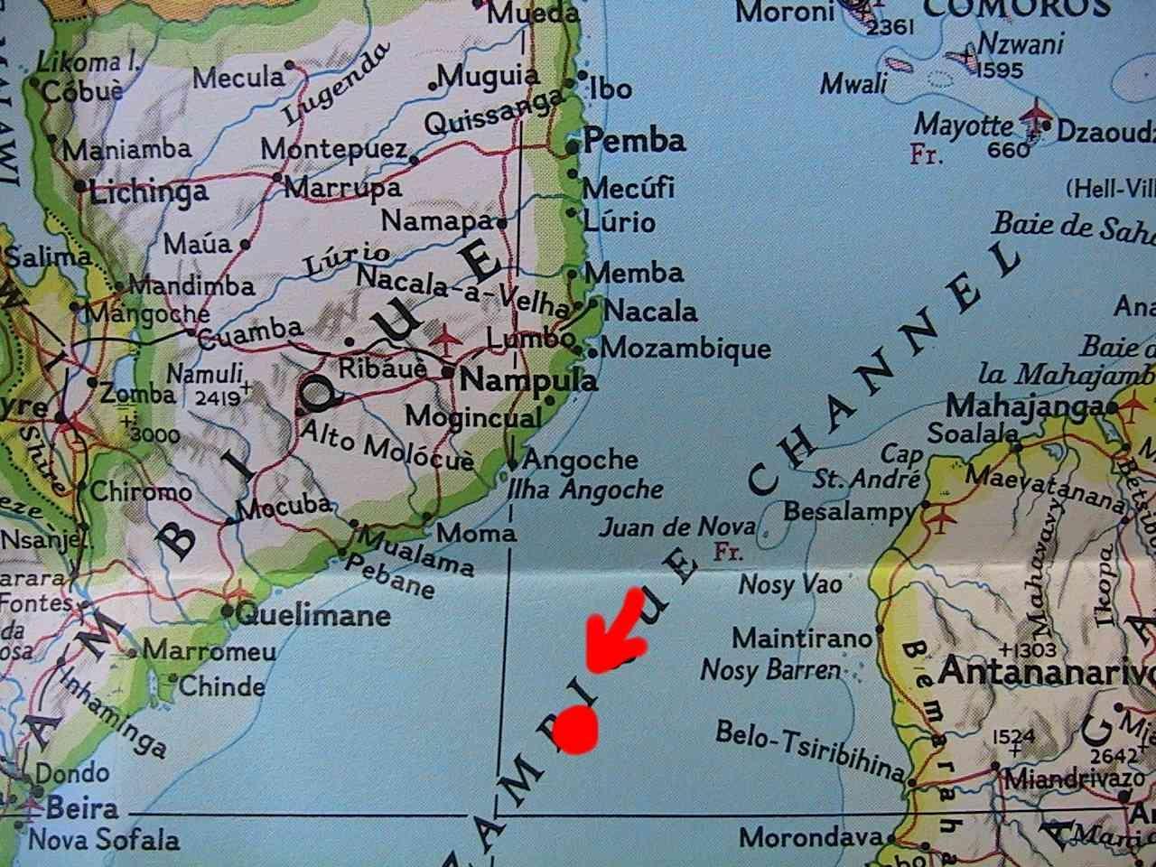 Где находятся мозамбикский пролив